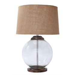 Ashley Shandel Glass Table Lamp in Transparent