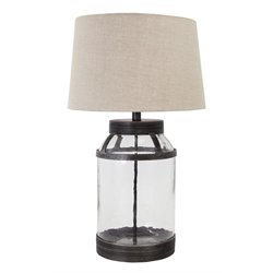 Ashley Shanika Glass Table Lamp in Transparent