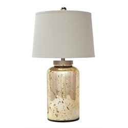 Ashley Shannin Glass Table Lamp in Gold
