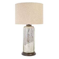 Ashley Sharlie Glass Table Lamp in Silver