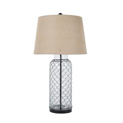 Ashley Sharmayne Glass Table Lamp in Transparent