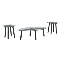 Ashley Iselle 3 Piece Coffee Table Set in Black