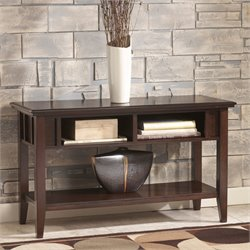 Ashley Logan Console Console Table in Dark Brown