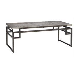 Ashley Isman Coffee Table in Silver and Black