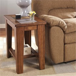Ashley Toscana End Table in Rustic Brown