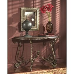 Ashley Rafferty Console Table in Dark Brown