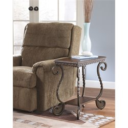 Ashley Rafferty End Table in Dark Brown