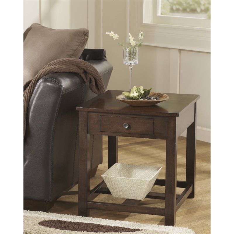 furniture living room end tables ashley marion end table in dark brown