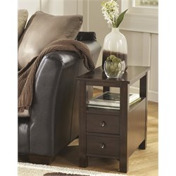 Ashley Marion End Table in Dark Brown