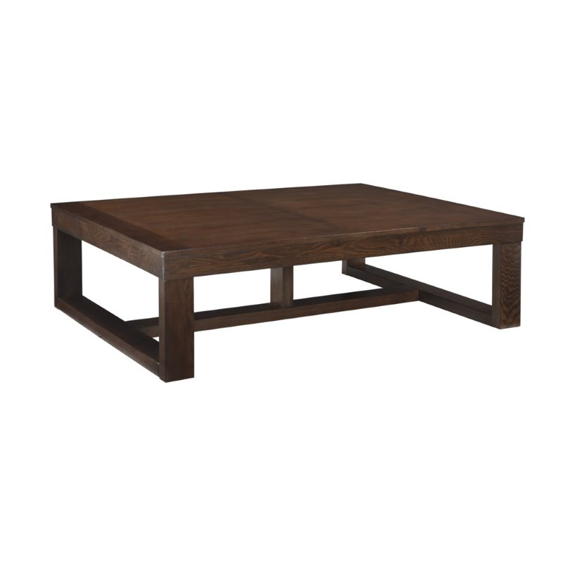 ashley watson coffee table in dark brown t481 1 With ashley watson coffee table