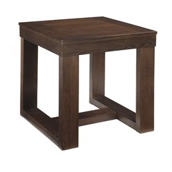 Ashley Watson Square End Table in Dark Brown