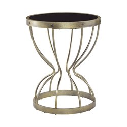 Ashley Marxim Round End Table in Black and Gold