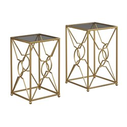Ashley Marxim Nesting End Table in Gold (Set of 2)