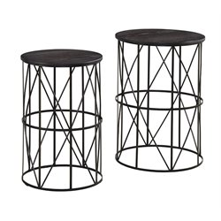 Ashley Marxim Nesting End Table in Dark Bronze (Set of 2)