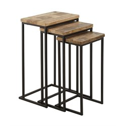 Ashley Marxim Nesting End Table in Brown and Black (Set of 3)