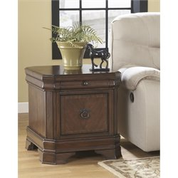 Ashley Hamlyn Media End Table in Medium Brown
