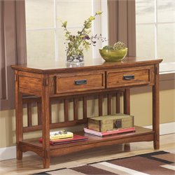 Ashley Cross Island Console Console Table in Medium Brown