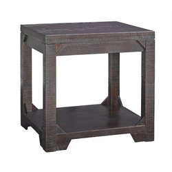 Ashley Rogness End Table in Rustic Brown