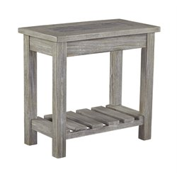 Ashley Veldar End Table in Whitewash