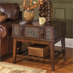 Ashley McKenna End Table in Dark Brown