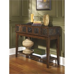 Ashley McKenna Console Table in Dark Brown