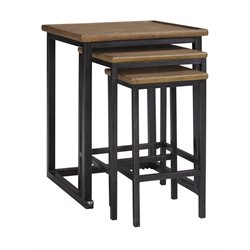Ashley Traxmore Nesting End Table in Warm Brown (Set of 3)