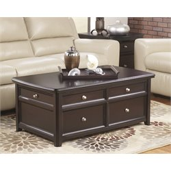 Ashley Carlyle Lift Top Coffee Table in Almost Black