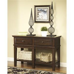 Ashley Gately Console Console Table in Medium Brown