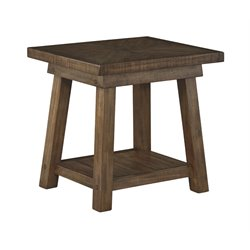 Ashley Dondie End Table in Rustic Brown
