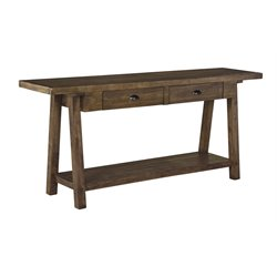 Ashley Dondie Console Table in Rustic Brown