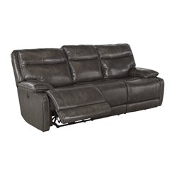 Ashley Furniture Palladum Reclining Sofa in Metal