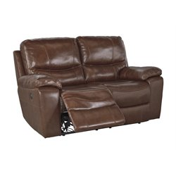 Ashley Furniture Penache Reclining Loveseat in Saddle