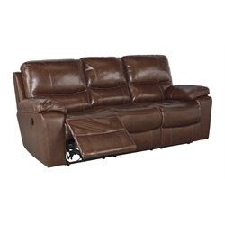 Ashley Furniture Penache Reclining Sofa in Saddle
