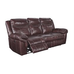 Ashley Furniture Zephen Reclining Sofa in Mahogany