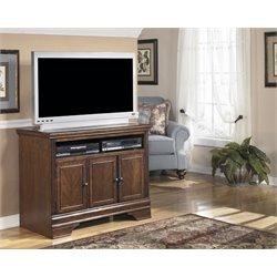 Ashley Furniture Hamlyn TV Stand in Dark Brown