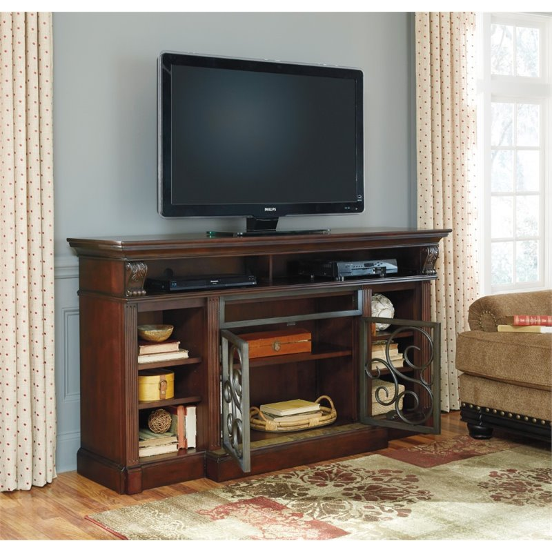 Ashley Alymere 72 Quot Tv Stand In Rustic Brown W669 88