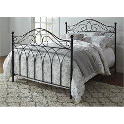 Ashley Nashburg Metal Bed in Black