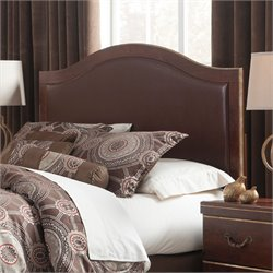 Ashley Chanlyn Queen Full Upholstered Panel Headboard in Reddish Brown