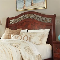 Ashley Delianna Sleigh Headboard in Reddish Brown