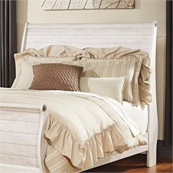 Ashley Willowton Sleigh Headboard in Whitewash