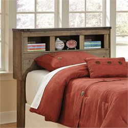 Ashley Trinell Bookcase Headboard in Brown