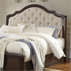 Ashley Moluxy Upholstered Headboard in Off White