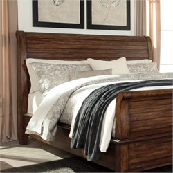 Ashley Chaddinfield Sleigh Headboard in Brown