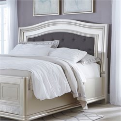 Ashley Coralayne Upholstered Headboard in Silver