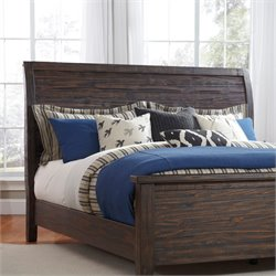 Ashley Trudell Sleigh Headboard in Dark Brown