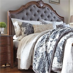 Ashley Balinder Upholstered Headboard in Gray