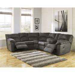 Ashley Tambo Reclining Sectional in Pewter