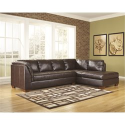 Ashley Fairplay DuraBlend 2 Piece Sectional in Mahogany