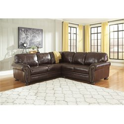 Ashley Banner 2 Piece Sectional in Coffee