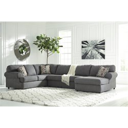 Ashley Jayceon 3 Piece Sectional in Steel
